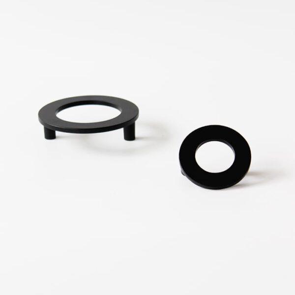 ידית טבעת בגוון שחור דגם K-470